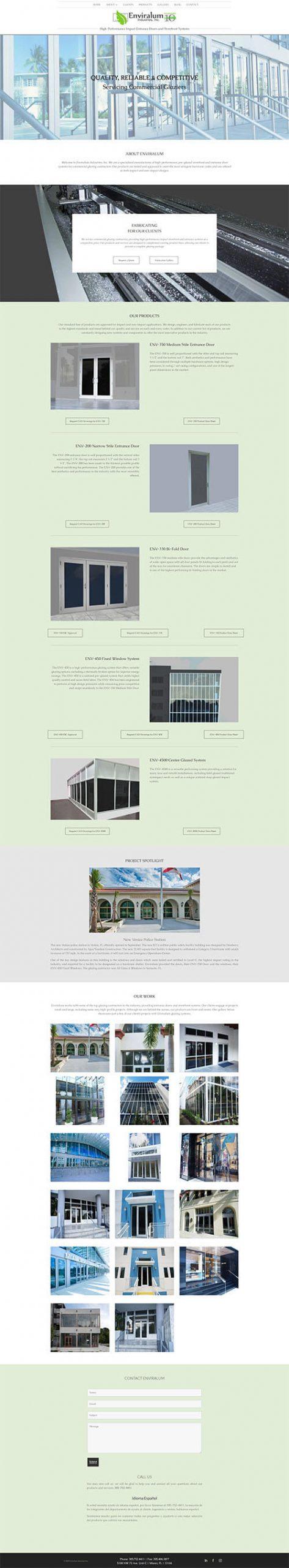 Enviralum Site Screenshot
