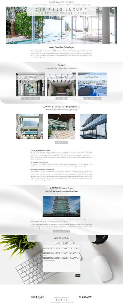 Faour Glass Site Screenshot