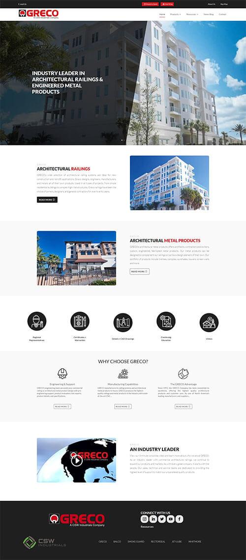 Greco Railing Website